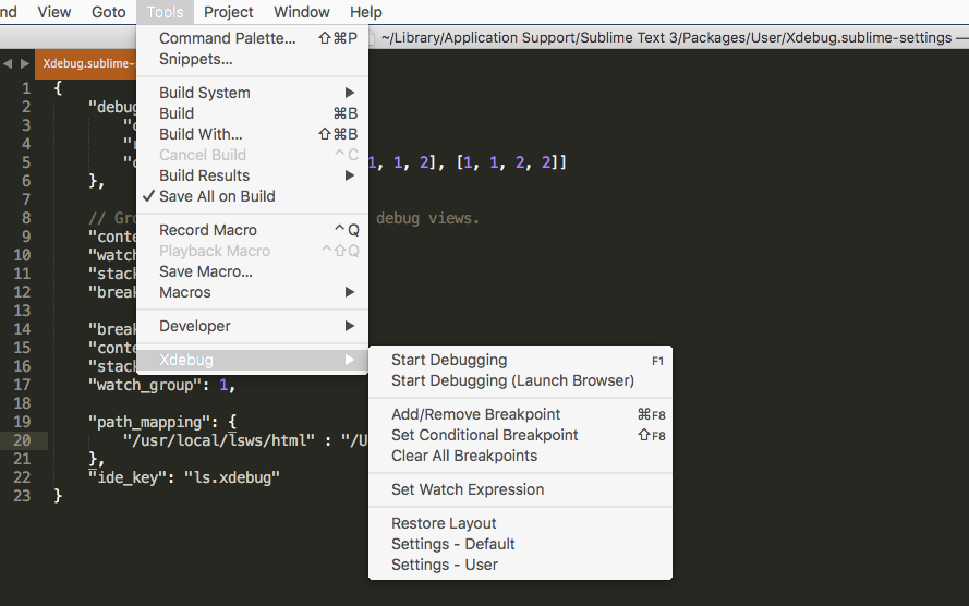 Setup Sublime Text 3 with Xdebug for remote debugging | PHP can